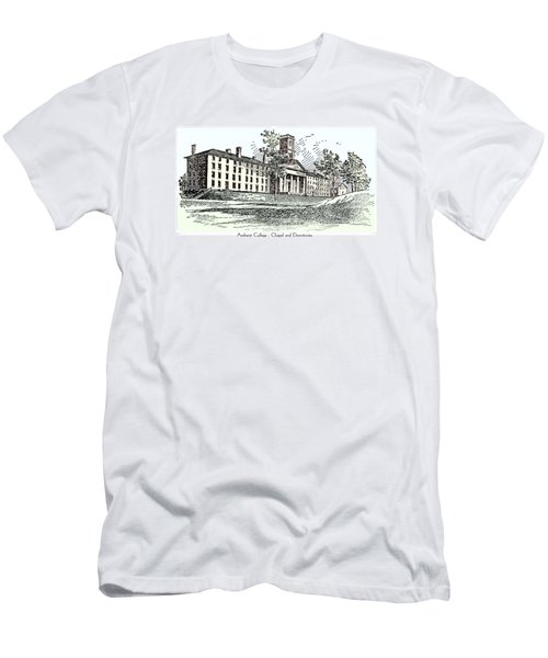 Amherst College - Chapel And Dormitories Men's T-Shirt (Athletic Fit)