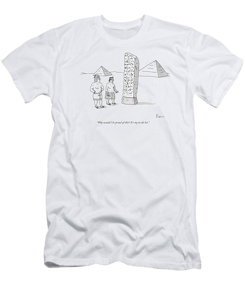 An Ancient Egyptian Mason Describes An Obelisk Men's T-Shirt (Athletic Fit)