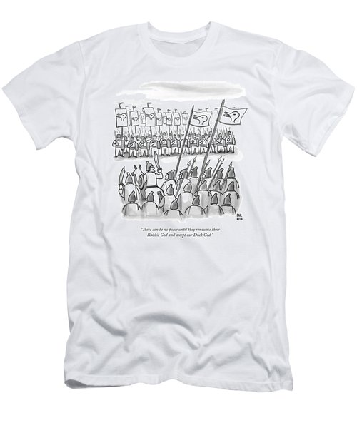 An Army Lines Up For Battle Men's T-Shirt (Athletic Fit)
