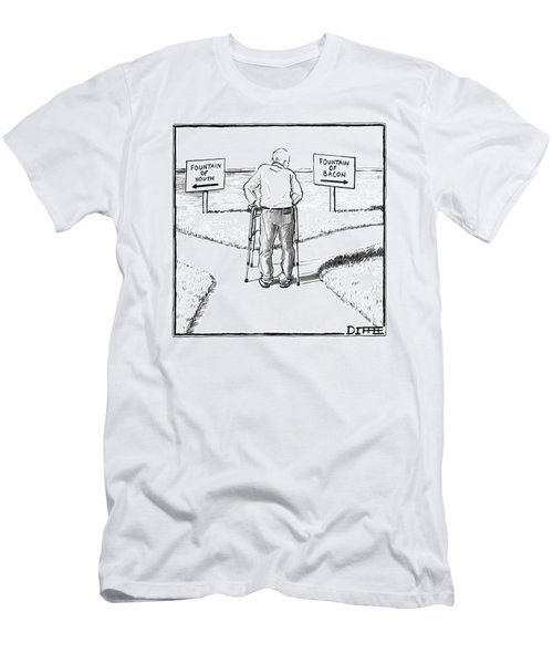 An Elderly Man Is Seen Standing Next To Two Arrow Men's T-Shirt (Athletic Fit)