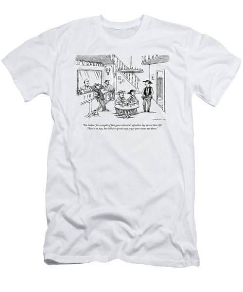An Old Western Cowboy Speaks To Other Cowboys Men's T-Shirt (Athletic Fit)
