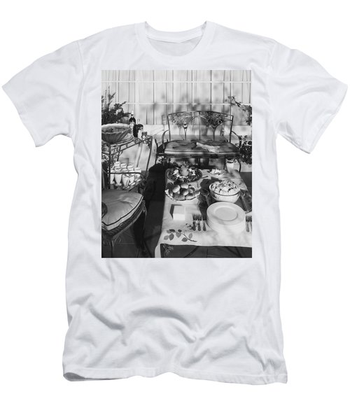 An Outdoor Dining Set Up Men's T-Shirt (Athletic Fit)