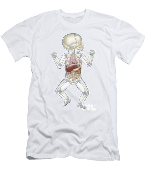 Anatomy Of A Newborn Baby Men's T-Shirt (Athletic Fit)