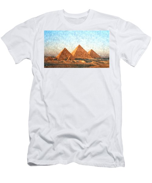 Ancient Egypt The Pyramids At Giza Men's T-Shirt (Athletic Fit)