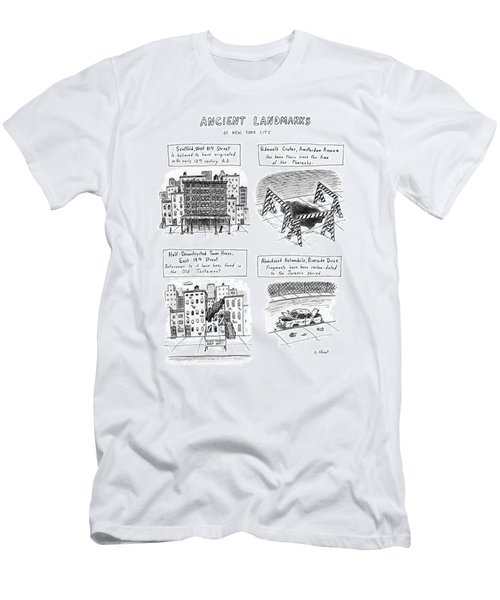 Ancient Landmarks Of New York City Men's T-Shirt (Athletic Fit)