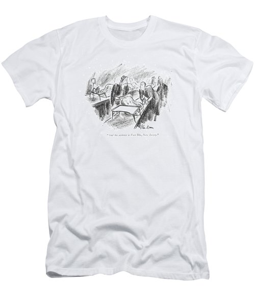 And His Address Is Fort Dix Men's T-Shirt (Athletic Fit)
