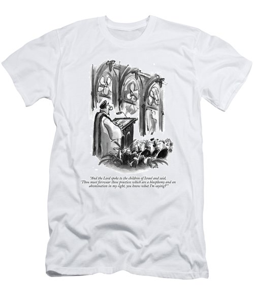 And The Lord Spoke To The Children Of Israel Men's T-Shirt (Athletic Fit)