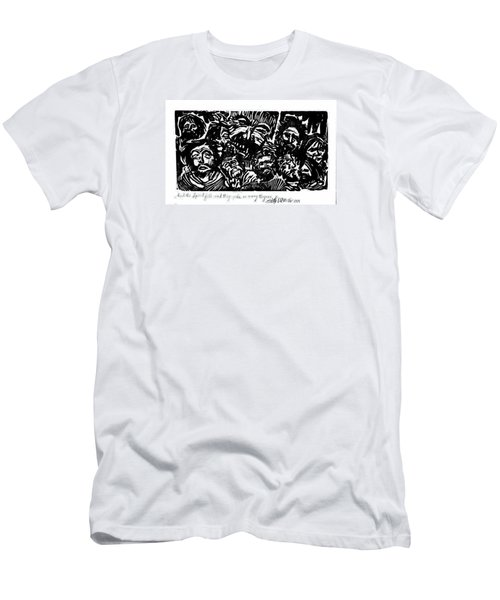 Men's T-Shirt (Slim Fit) featuring the drawing And The Spirit Fell by Seth Weaver