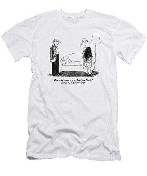 And, What's More, I Never Loved You.  My Father Men's T-Shirt (Athletic Fit)