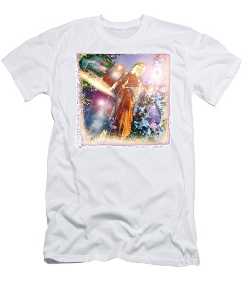 Men's T-Shirt (Slim Fit) featuring the photograph Angel Light by Marie Hicks