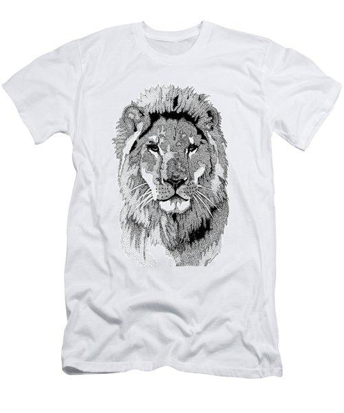 Animal Prints - Proud Lion - By Sharon Cummings Men's T-Shirt (Athletic Fit)