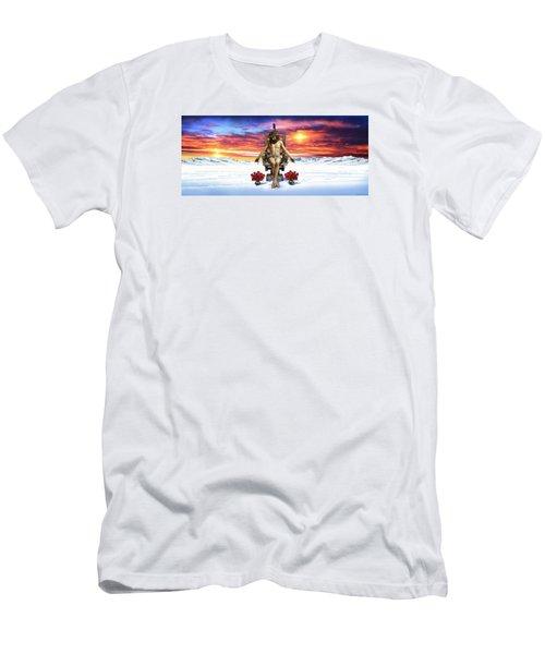 Men's T-Shirt (Slim Fit) featuring the digital art Antarctica by Scott Ross