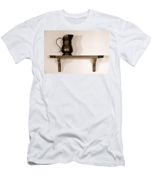 Antique Pewter Pitcher On Old Wood Shelf Men's T-Shirt (Athletic Fit)
