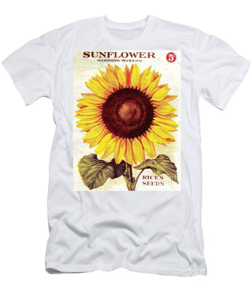 Antique Sunflower Seeds Pack Men's T-Shirt (Athletic Fit)