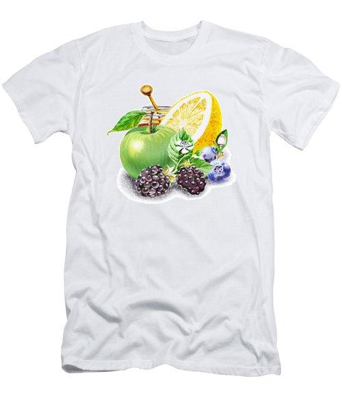 Apple Orange And Berries Men's T-Shirt (Athletic Fit)