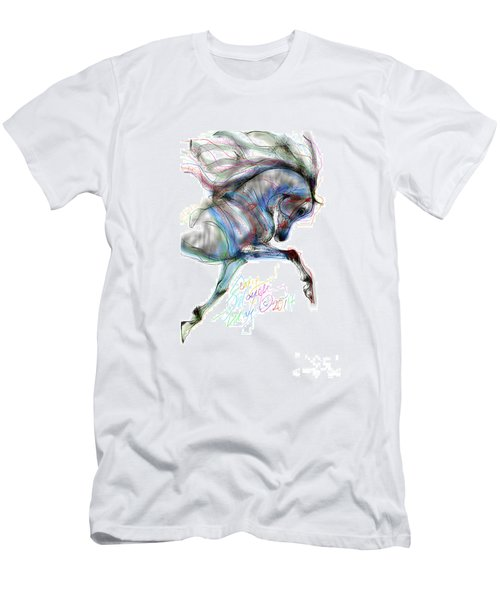 Arabian Horse Trotting In Air Men's T-Shirt (Athletic Fit)