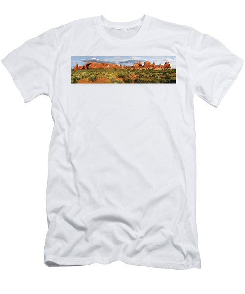 Arches National Park Panorama Men's T-Shirt (Athletic Fit)