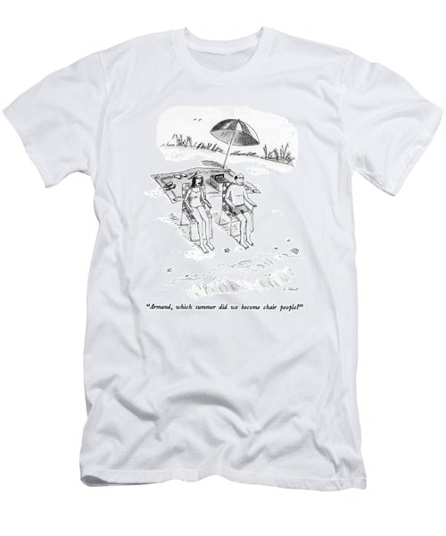 Armand, Which Summer Did We Become Chair People? Men's T-Shirt (Athletic Fit)