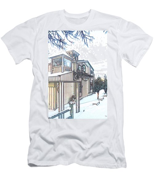 Arp Clockhouse Across From Mamasitas In Bennet Nebraska Men's T-Shirt (Slim Fit)