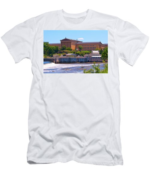 Art Museum And Fairmount Waterworks - Hdr Men's T-Shirt (Athletic Fit)