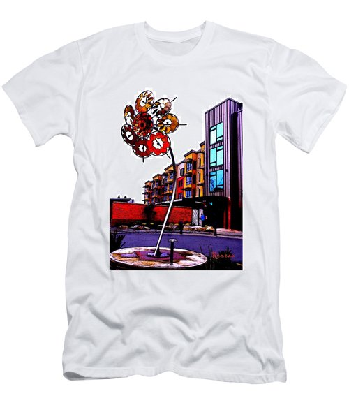Men's T-Shirt (Slim Fit) featuring the photograph Art On The Ave by Sadie Reneau