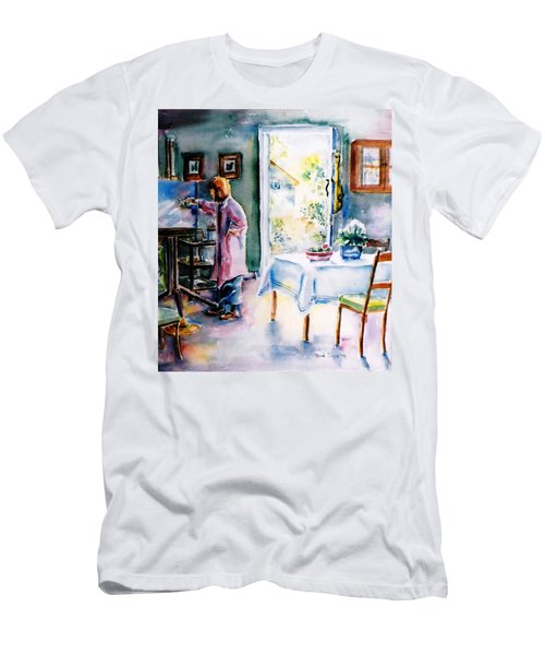 Artist At Work In Summer  Men's T-Shirt (Slim Fit) by Trudi Doyle