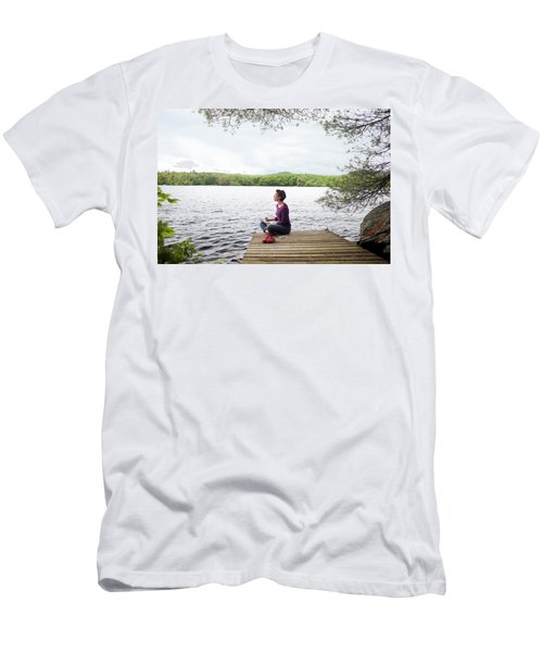 Artist Drawing Beautiful Views Men's T-Shirt (Athletic Fit)