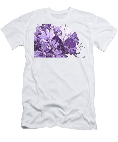 Men's T-Shirt (Slim Fit) featuring the photograph Artsy Purple Cosmos by Sandra Foster