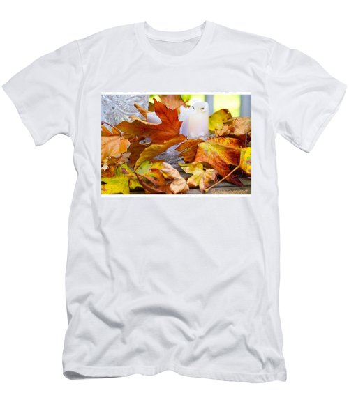 Maple Leaves Candles And Crystal Men's T-Shirt (Athletic Fit)