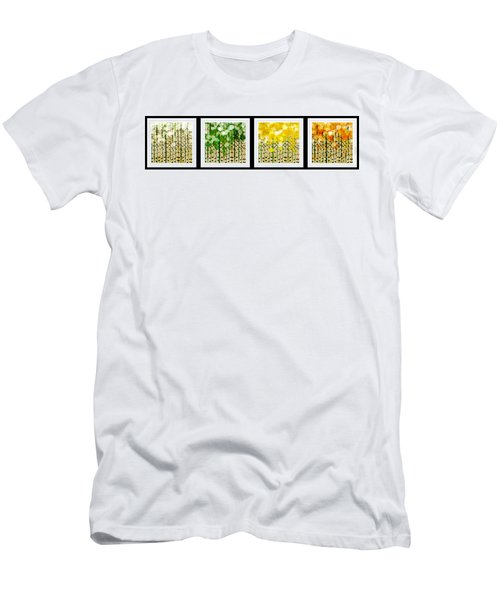 Aspen Colorado Abstract Horizontal 4 In 1 Collection Men's T-Shirt (Athletic Fit)