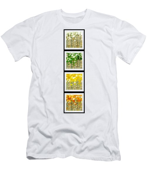 Aspen Colorado Abstract Vertical 4 In 1 Collection Men's T-Shirt (Athletic Fit)