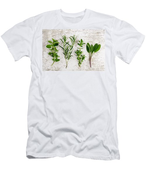 Assorted Fresh Herbs Men's T-Shirt (Athletic Fit)