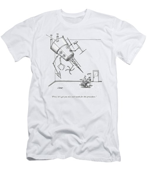 At A Dentist's Office Men's T-Shirt (Athletic Fit)