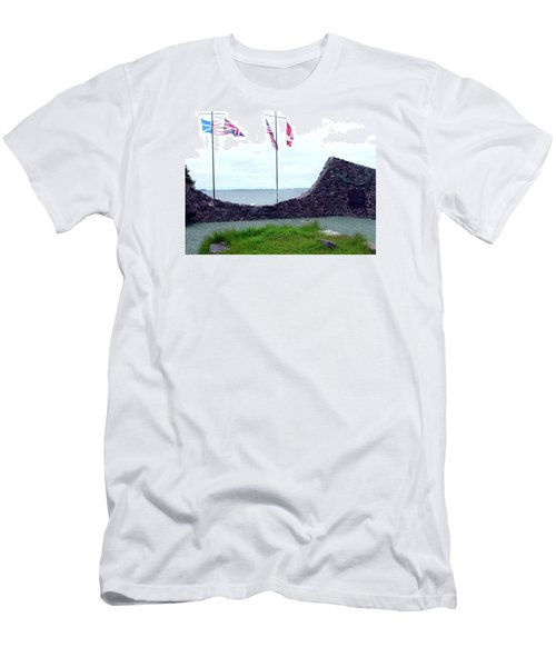 Men's T-Shirt (Slim Fit) featuring the photograph Atlantic Charter Historic Site by Barbara Griffin