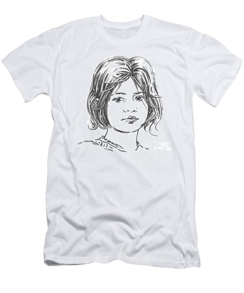 Men's T-Shirt (Slim Fit) featuring the drawing Audrey by Olimpia - Hinamatsuri Barbu