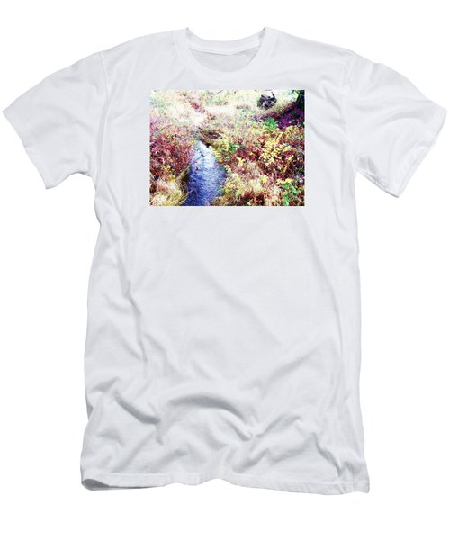Men's T-Shirt (Slim Fit) featuring the photograph Autumn Creek by Vanessa Palomino