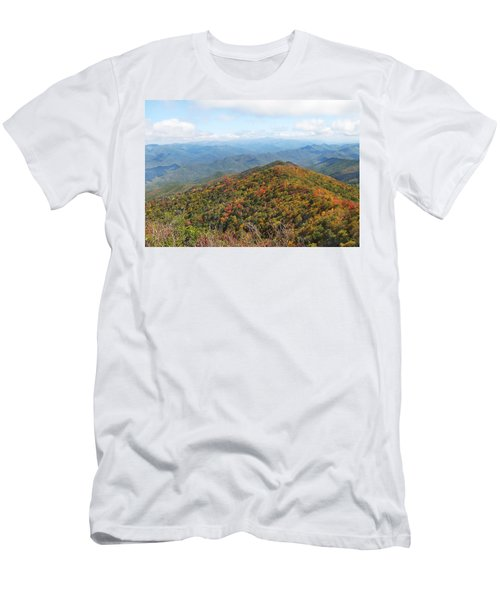 Autumn Great Smoky Mountains Men's T-Shirt (Slim Fit) by Melinda Fawver