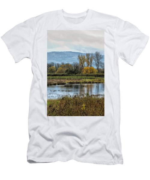 Men's T-Shirt (Athletic Fit) featuring the photograph Autumn Haven by Belinda Greb