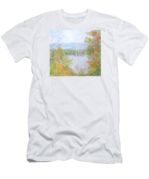Autumn By The Lake In New Hampshire Men's T-Shirt (Athletic Fit)