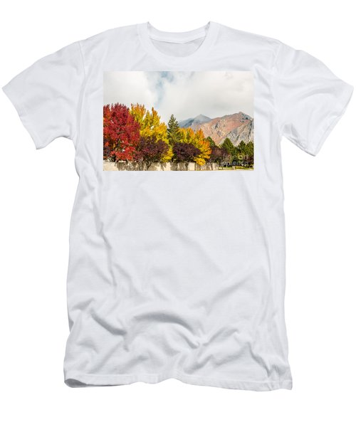 Autumn In The City Men's T-Shirt (Slim Fit) by Sue Smith
