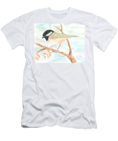 Men's T-Shirt (Slim Fit) featuring the painting Autumn Visitor by Stephanie Grant