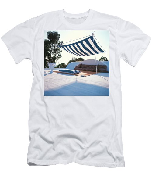 Awning At The Vacation Home Of Gaston Berthelot Men's T-Shirt (Athletic Fit)
