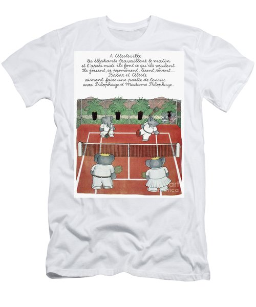 Babar The Elephant, 1930s Men's T-Shirt (Athletic Fit)