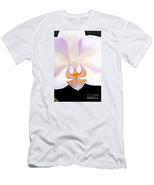 Men's T-Shirt (Athletic Fit) featuring the photograph Backlit Orchid by David Perry Lawrence