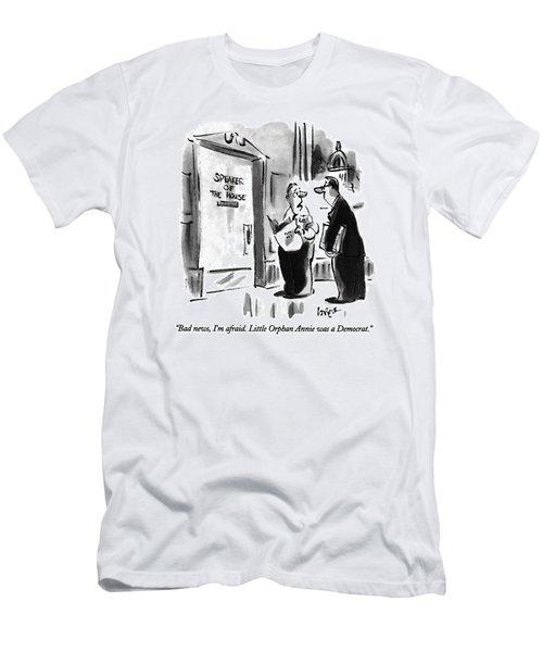 Bad News, I'm Afraid.  Little Orphan Annie Men's T-Shirt (Slim Fit) by Lee Lorenz