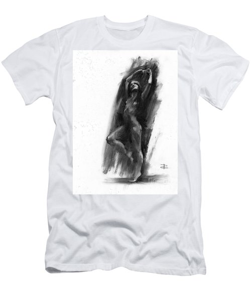 Men's T-Shirt (Slim Fit) featuring the drawing A Dance Of Balance by Paul Davenport