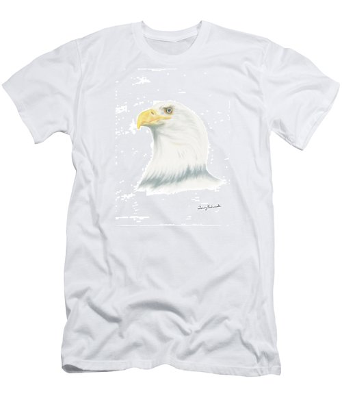 Bald Eagle Men's T-Shirt (Slim Fit) by Terry Frederick