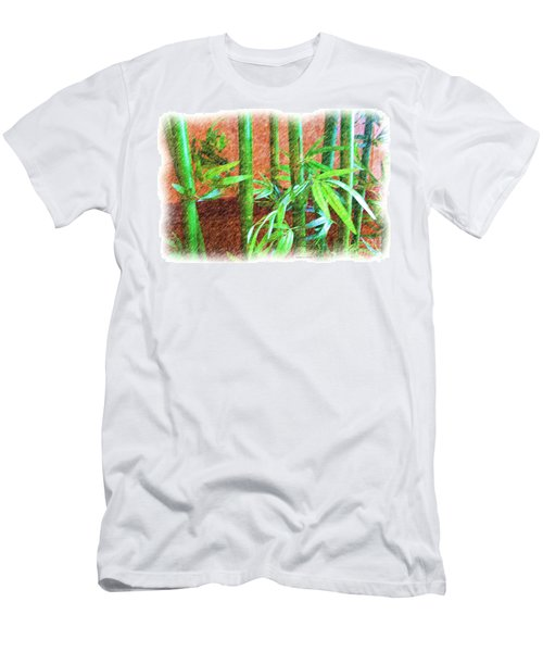 Bamboo #1 Men's T-Shirt (Slim Fit) by Luther Fine Art