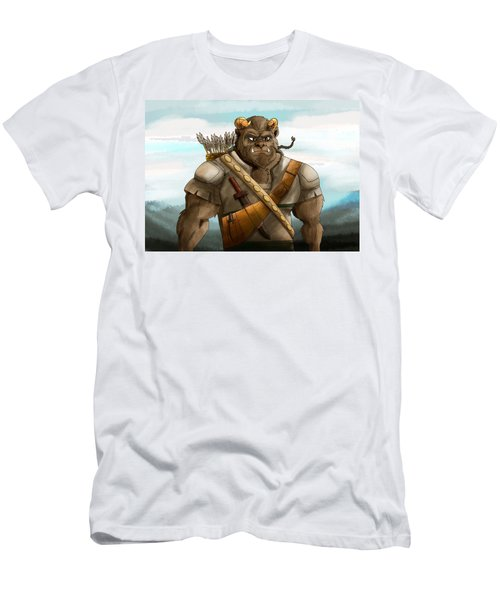 Men's T-Shirt (Slim Fit) featuring the painting Baragh The Hoargg Warrior by Reynold Jay