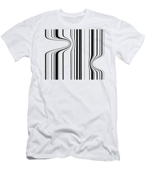 Men's T-Shirt (Slim Fit) featuring the painting Barcode  C2014 by Paul Ashby